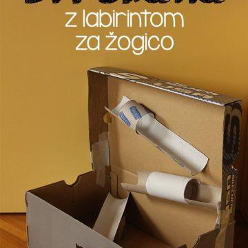 DIY škatla z labirintom za žogico