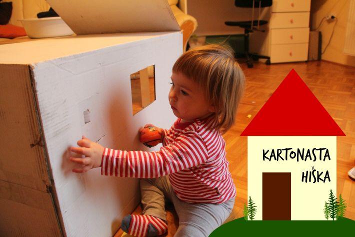 Enostavno, brezplačno, zabavno: kartonasta hiška