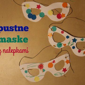 Pustne maske z nalepkami