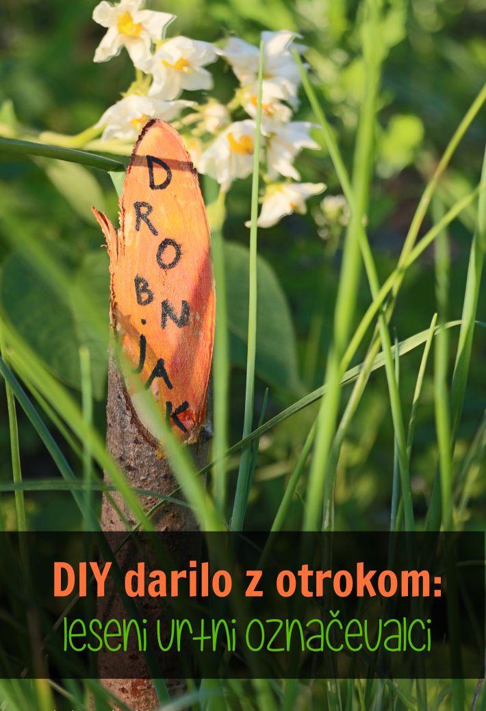 DIY darilo z otrokom: leseni vrtni označevalci