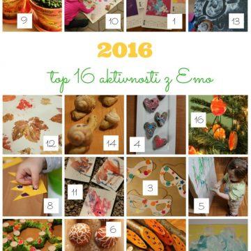 2016: top 16 aktivnosti z Emo