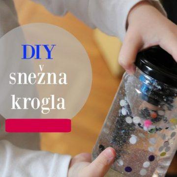 DIY snežna krogla – zabava zagotovljena