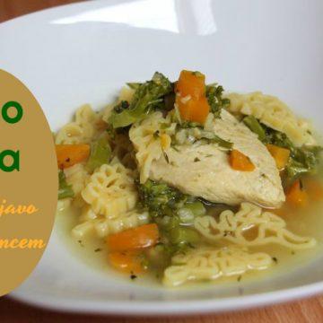 Dino juha z zelenjavo in piščancem