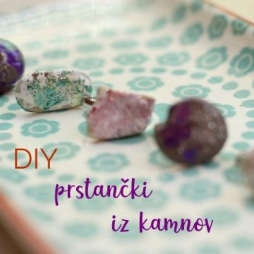 DIY prstančki iz kamnov