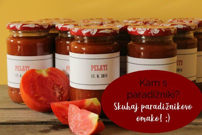 Kam s paradižniki? Skuhaj paradižnikovo omako! ;)
