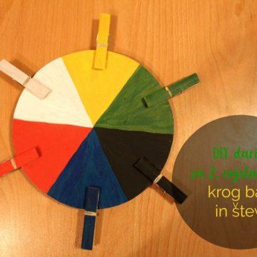 DIY darilo za 2. rojstni dan: krog barv in števil