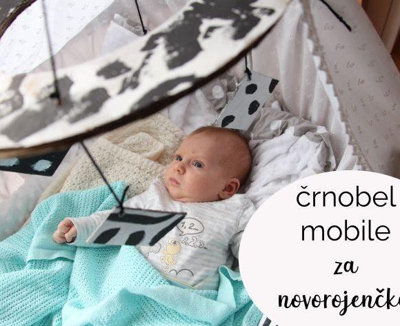 Črnobel mobile za novorojenčka