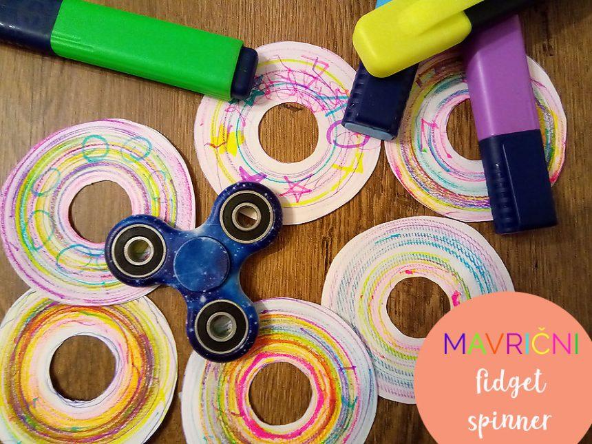 Mavrični fidget spinner