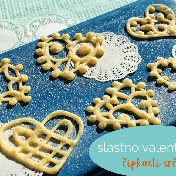 Slastno valentinovo: čipkasti srčki