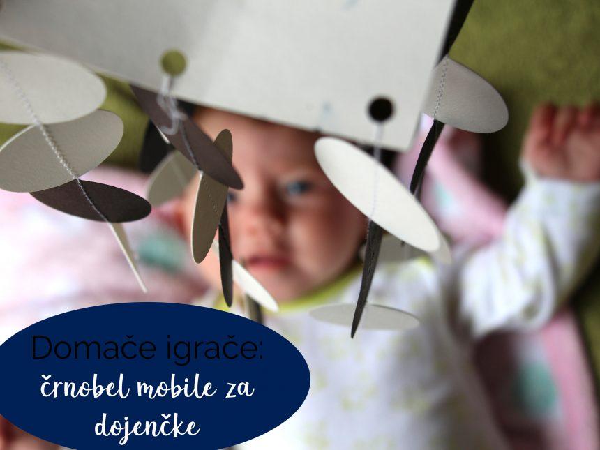 Domače igrače: črnobel mobile za dojenčke