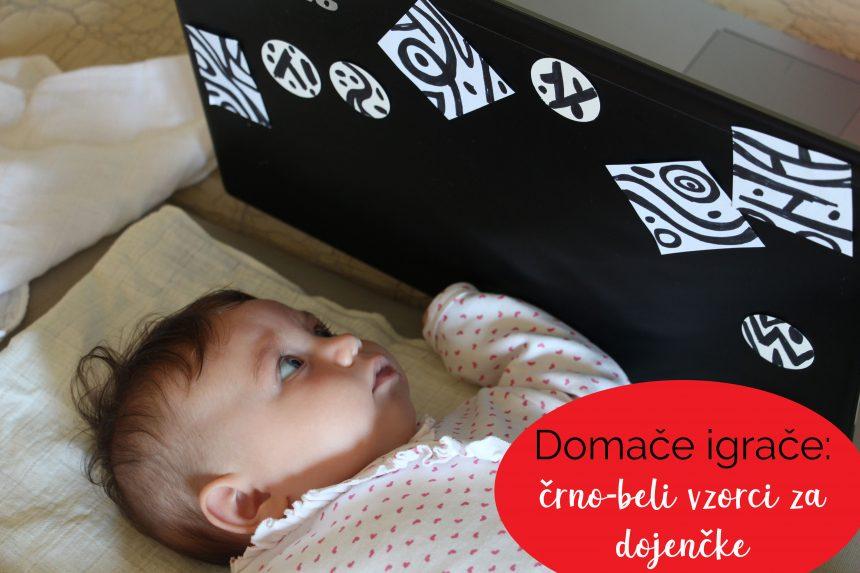 Domače igrače: črno-beli vzorci za dojenčke