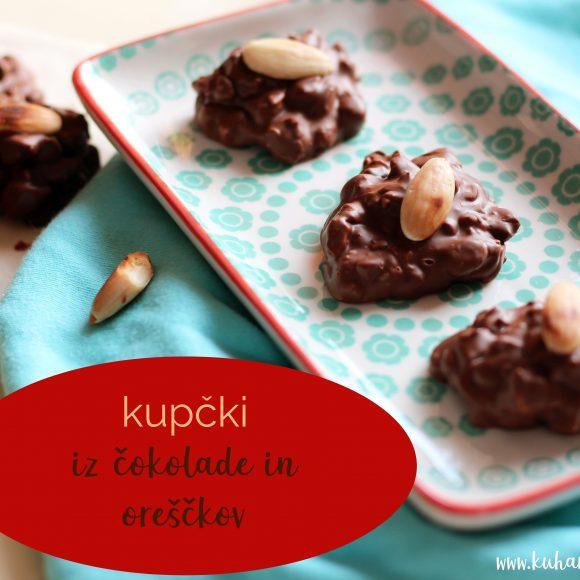 Kupčki iz čokolade in oreščkov