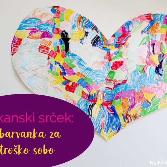 Velikanski srček: pobarvanka za otroško sobo