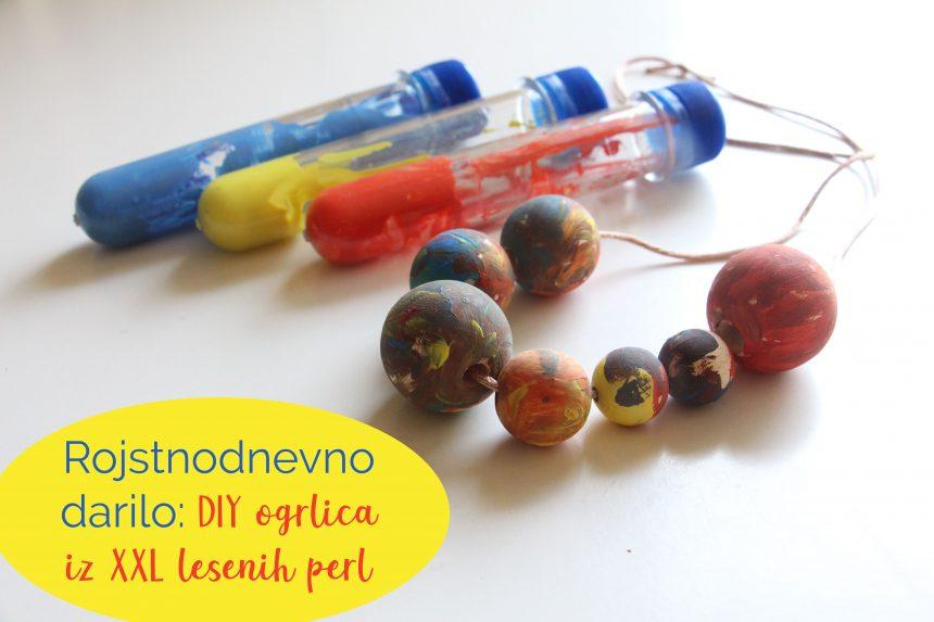 Rojstnodnevno darilo: DIY ogrlica iz XXL lesenih perl