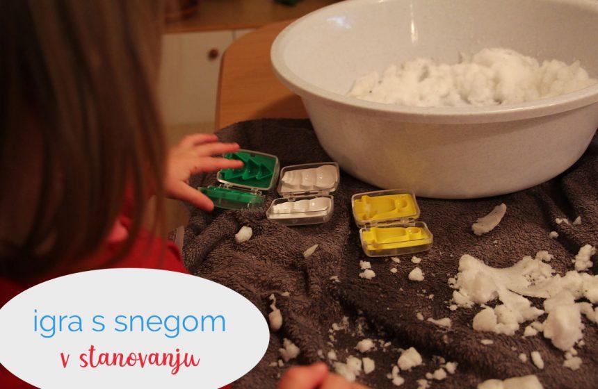 Igra s snegom v stanovanju