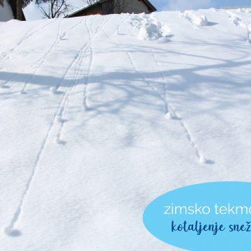 Zimsko tekmovanje: kotaljenje snežnih kep