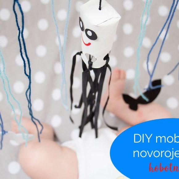 DIY mobile za novorojenčka: hobotnica