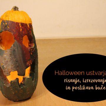 Halloween ustvarjanje: risanje, izrezovanje in poslikava buče