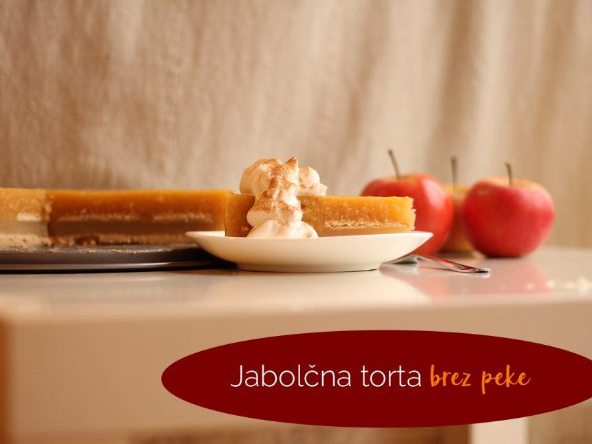 Jabolčna torta brez peke in kako sploh nastane recept na spletni strani oblizniprste.si